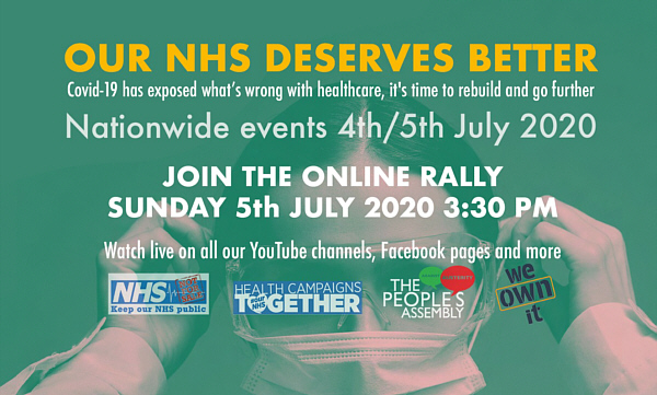 our nhs deserves better online rally advert